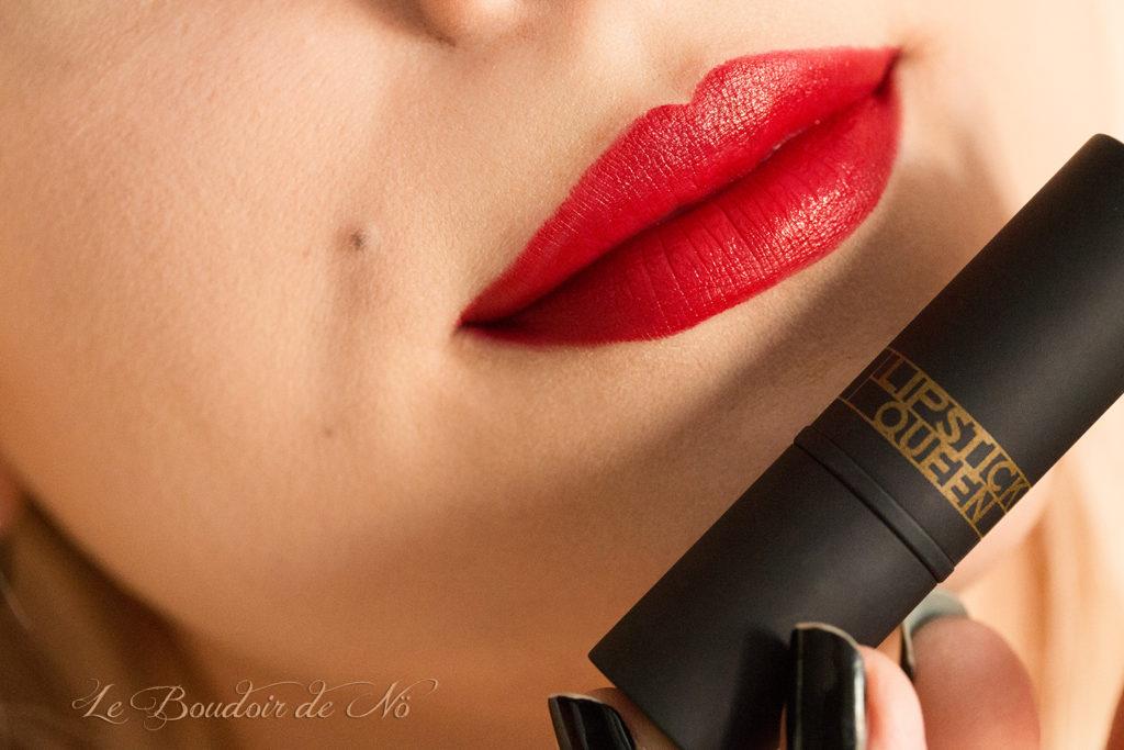 Lip Swatch Deep Red Lipstick Queen