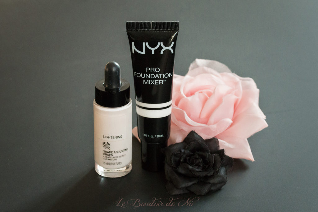 shade adjusting drops the body shop nyx pro foundation mixer