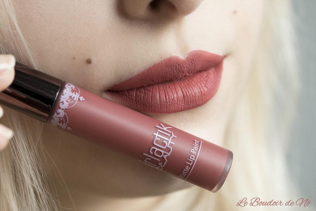 Girlactik Beauty Matte Lip Paints Allure Swatch