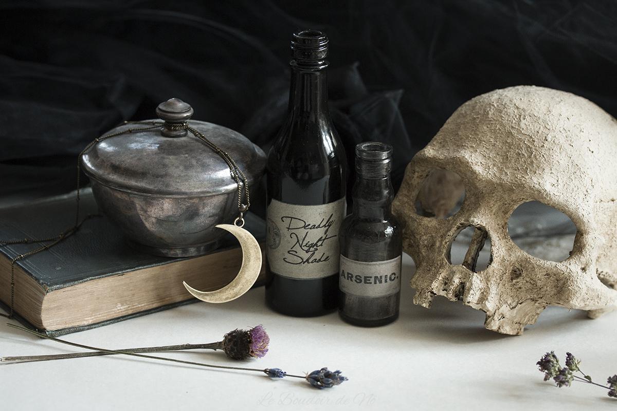 Boudoir du Chaman Revue, déco gothique, boudoir, cabinet de curiosités, sorcellerie