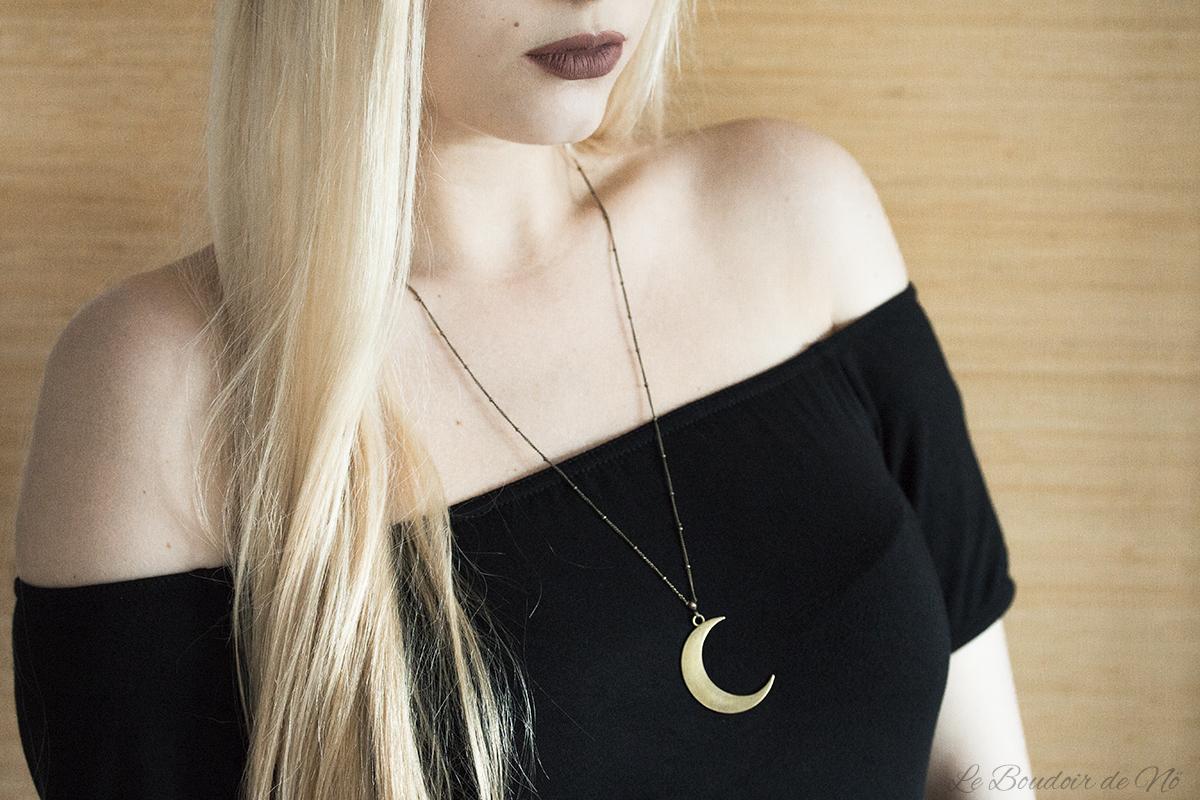 Collier lune, Noctem, Boudoir du Chaman, revue, avis