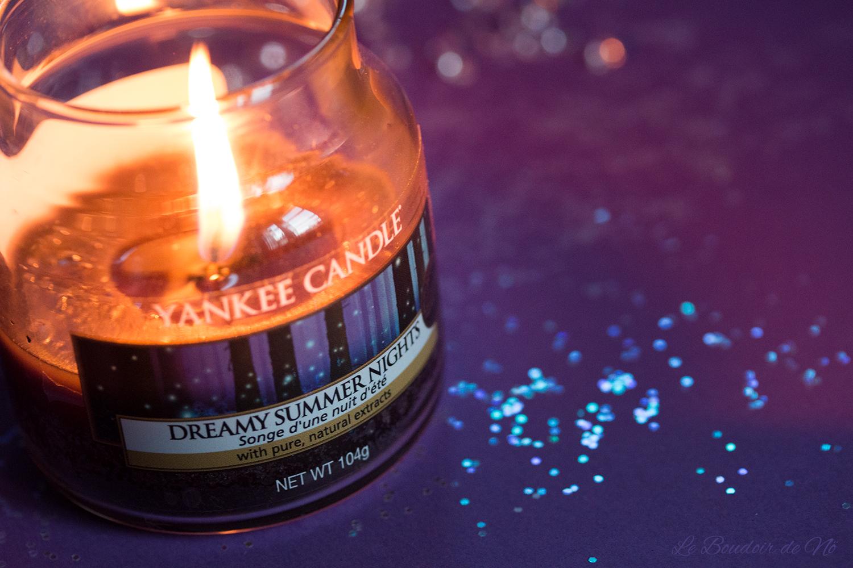 Bougie Yankee Candle Dreamy summer nights, Songe d'une nuit d'été, avis, revue