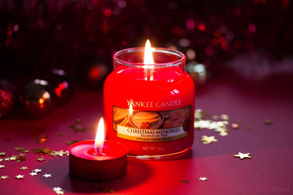 Photo de la bougie Christmas Memories Yankee Candle, mon avis dans cette revue