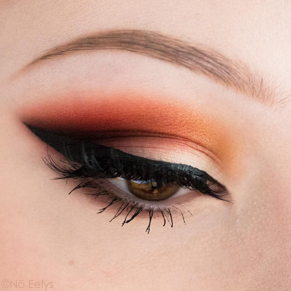 Maquillage réalisé avec la palette Orb of Light de Black Moon Cosmetics (New, Worm, Harvest, Blood, Black)