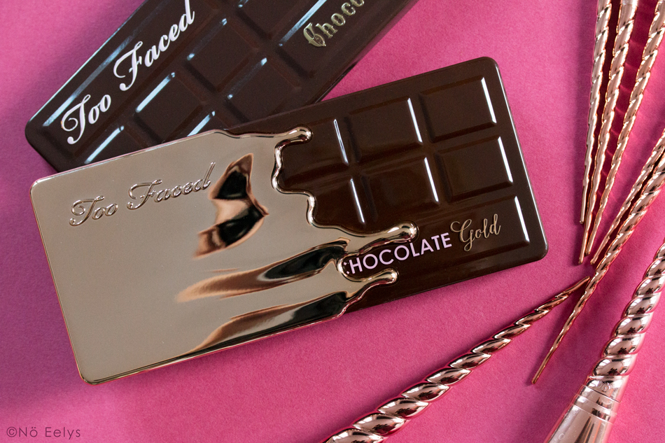 Packaging de la palette Chocolate Gold Too Faced : un packaging tablette de chocolat fondant