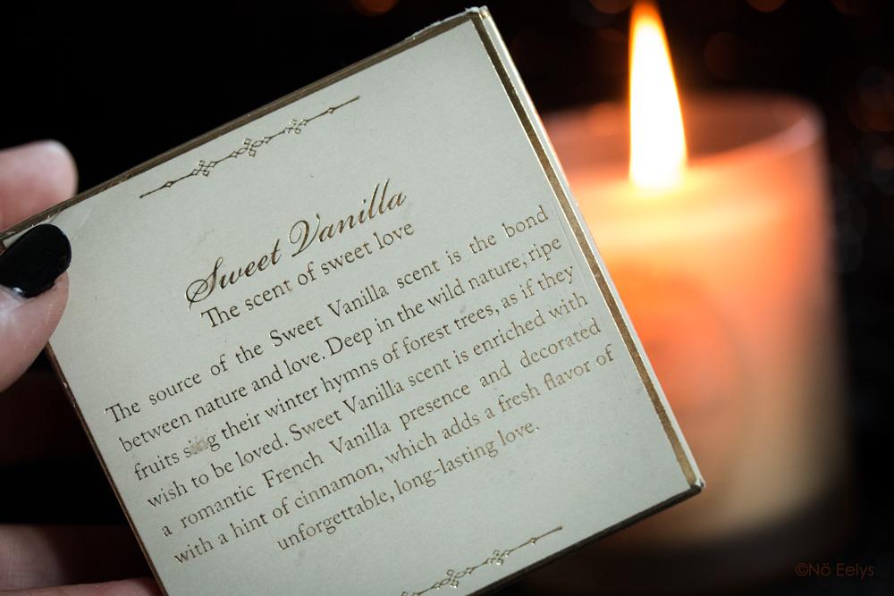 Description du parfum Sweet Vanilla de la bougie Sabon