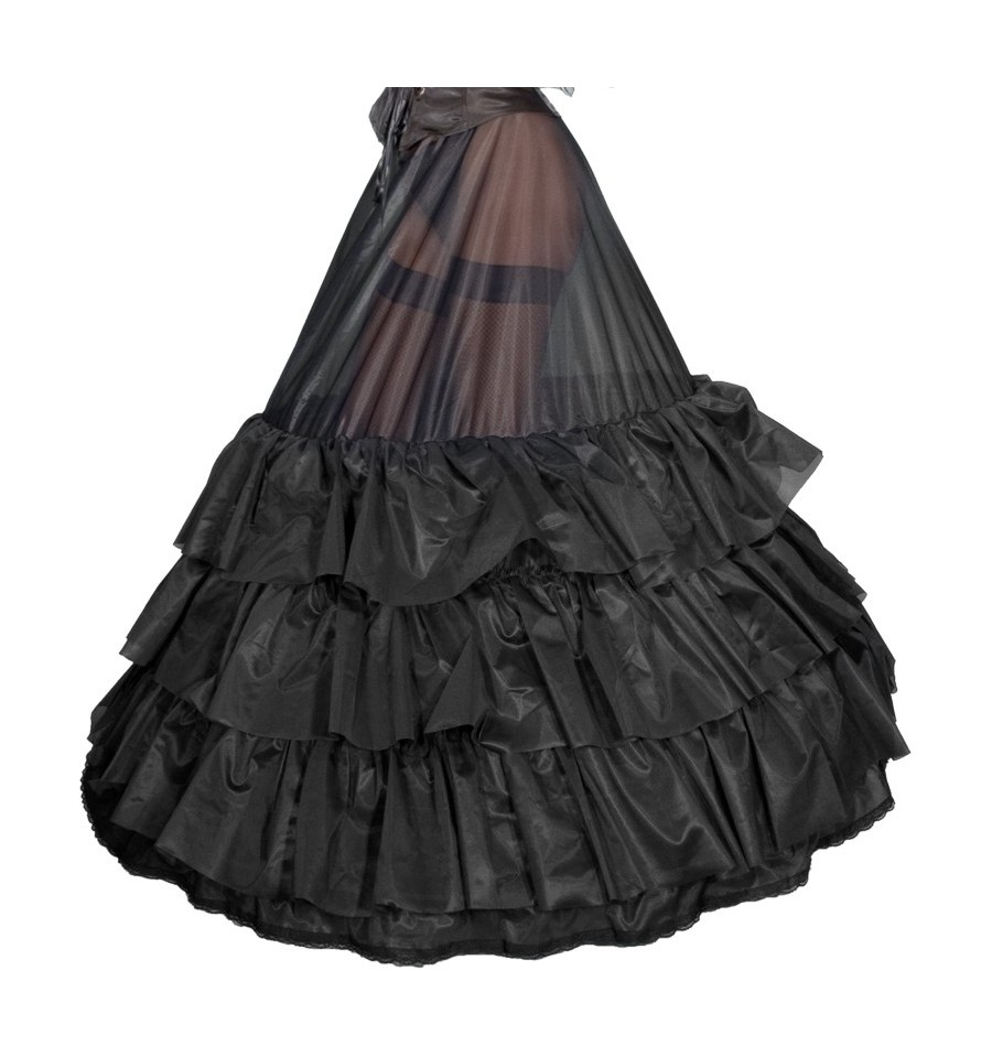 Jupon crinoline noir : accessoire gothique romantique