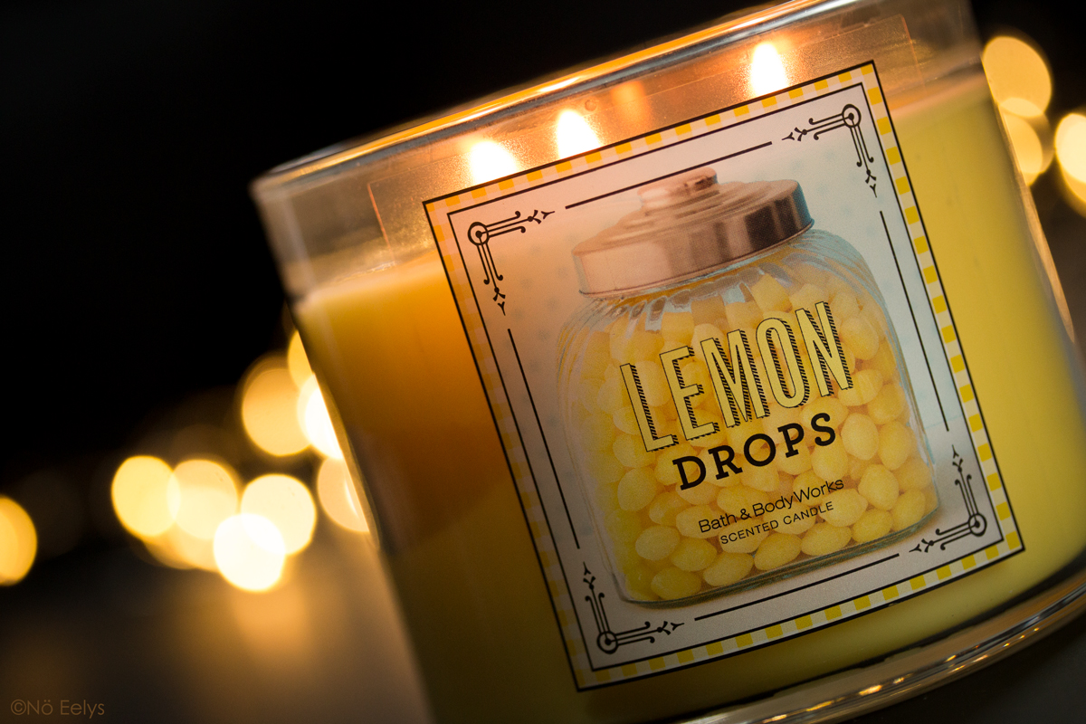 Revue bougie Lemon Drops de Bath and Body Works, bougie gourmande citron