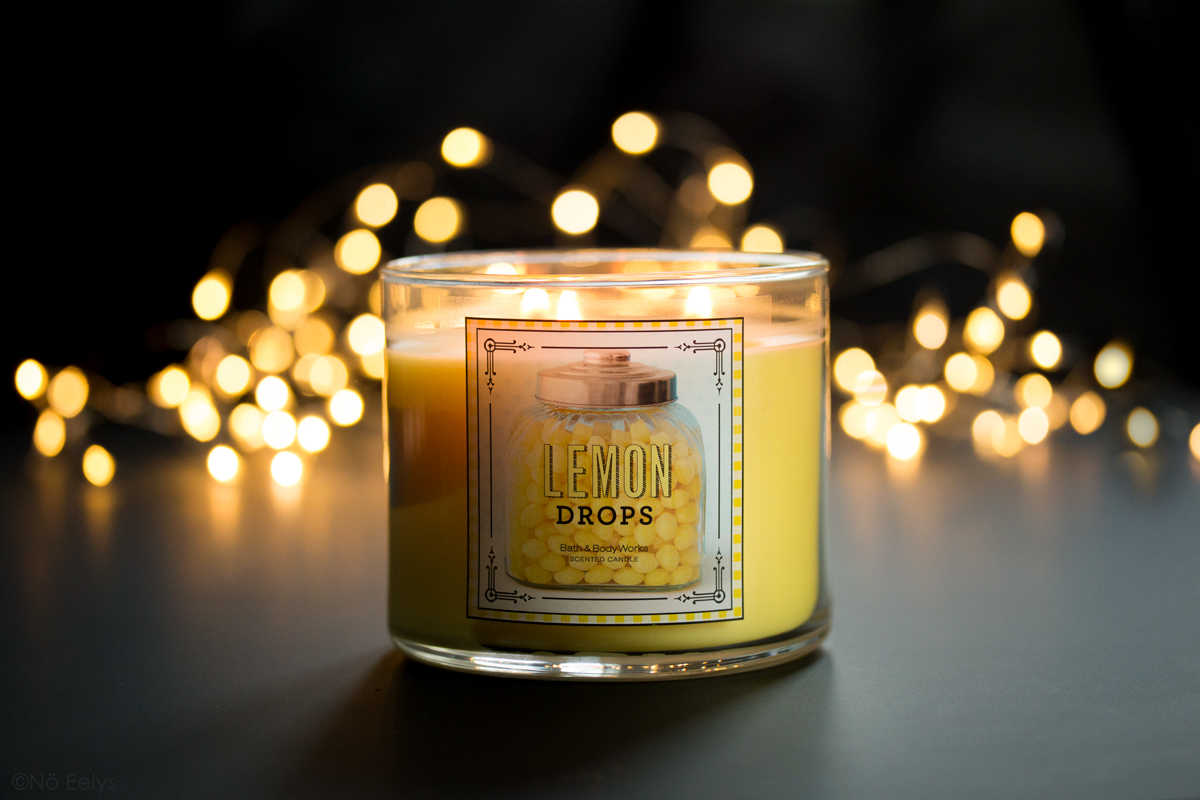 Mon avis sur la bougie Lemon Drops de Bath and Body Works, une bougie au citron sucré