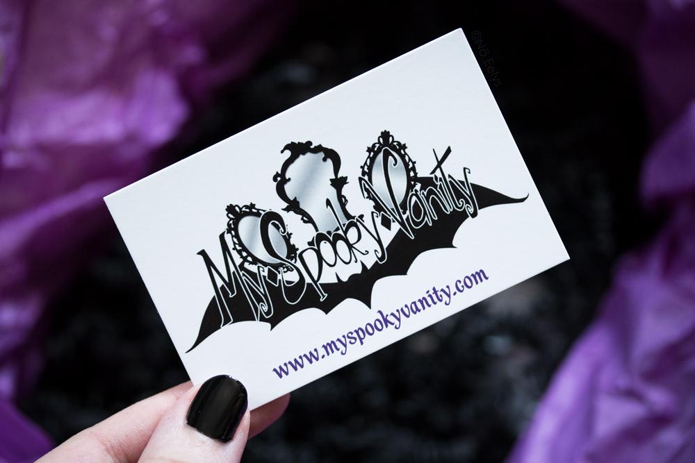 Mon avis sur la boutique My Spooky Vanity, boutique gothique en ligne de maquillage alternative, makeup et accessoires goths