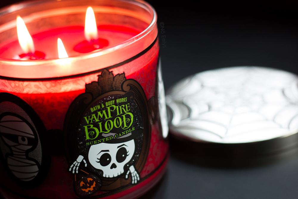 Mon avis sur la bougie 3 mèches Halloween Vampire Blood de Bath & Body Works