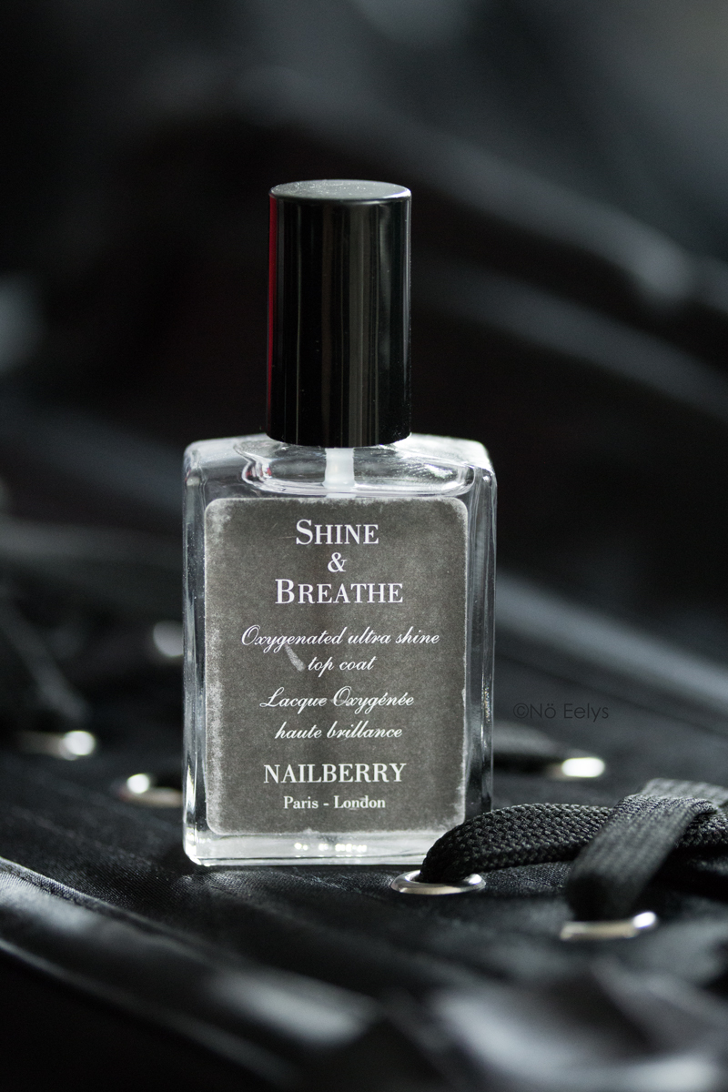 Le top coat Shine & Breathe de Nailberry, vernis top coat naturel vegan et cruelty-free