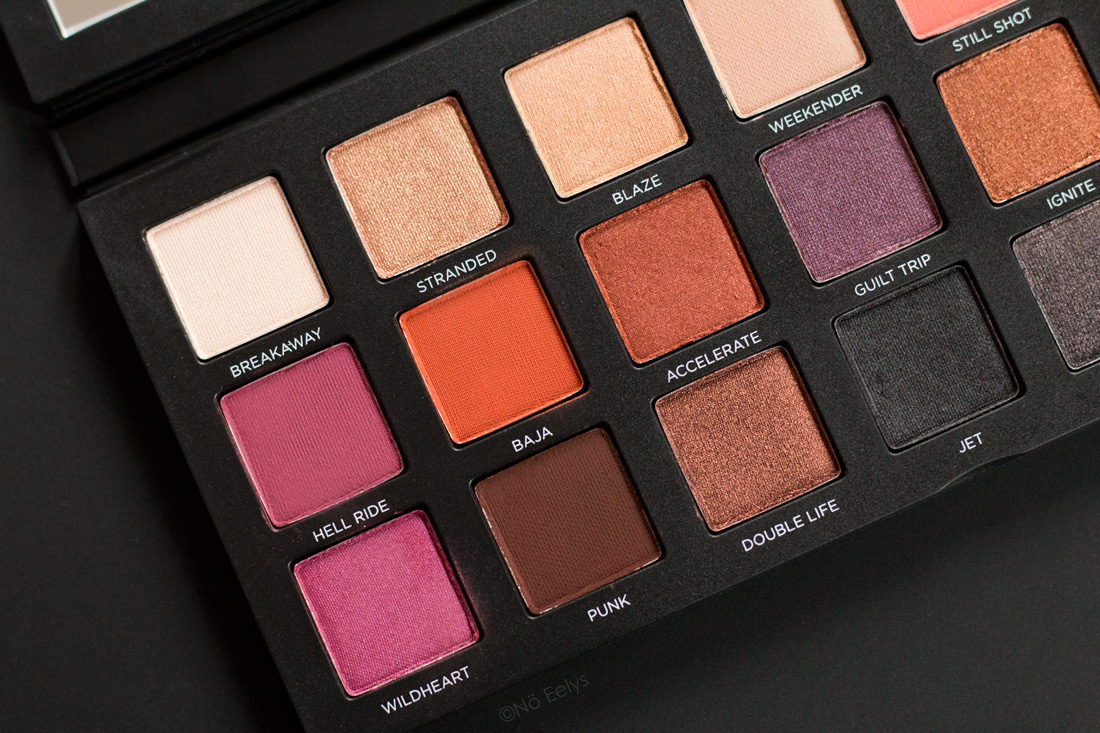 La palette Born to Run Urban Decay : swatchs 1