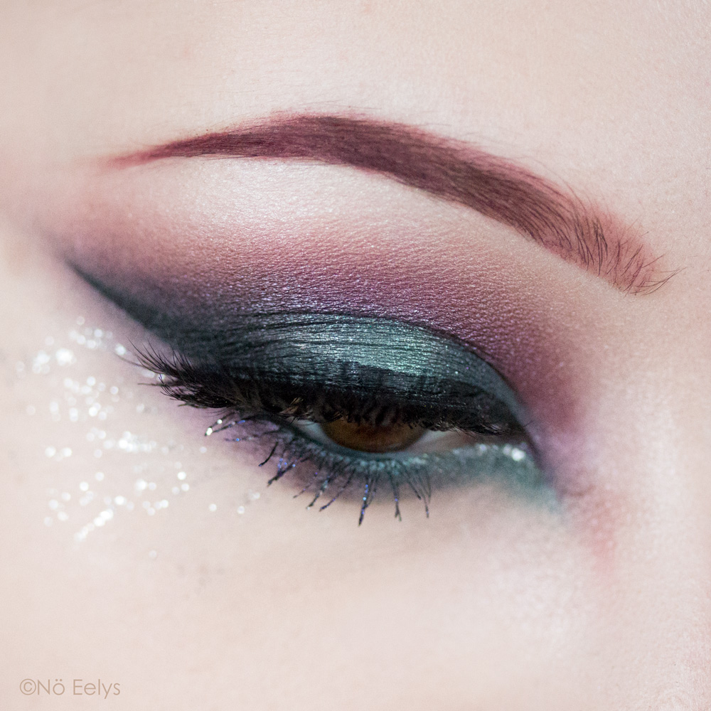 Urban Decay Born to Run maquillage smokey eye sirène bleu et violet avec les fards Guilt Trip, Radio et Big Sky