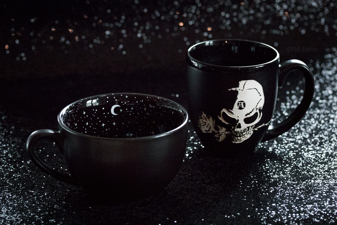 Midnight Mug Rogue + Wolfe et Alchemist Engraved Alchemy Gothic mugs gothiques