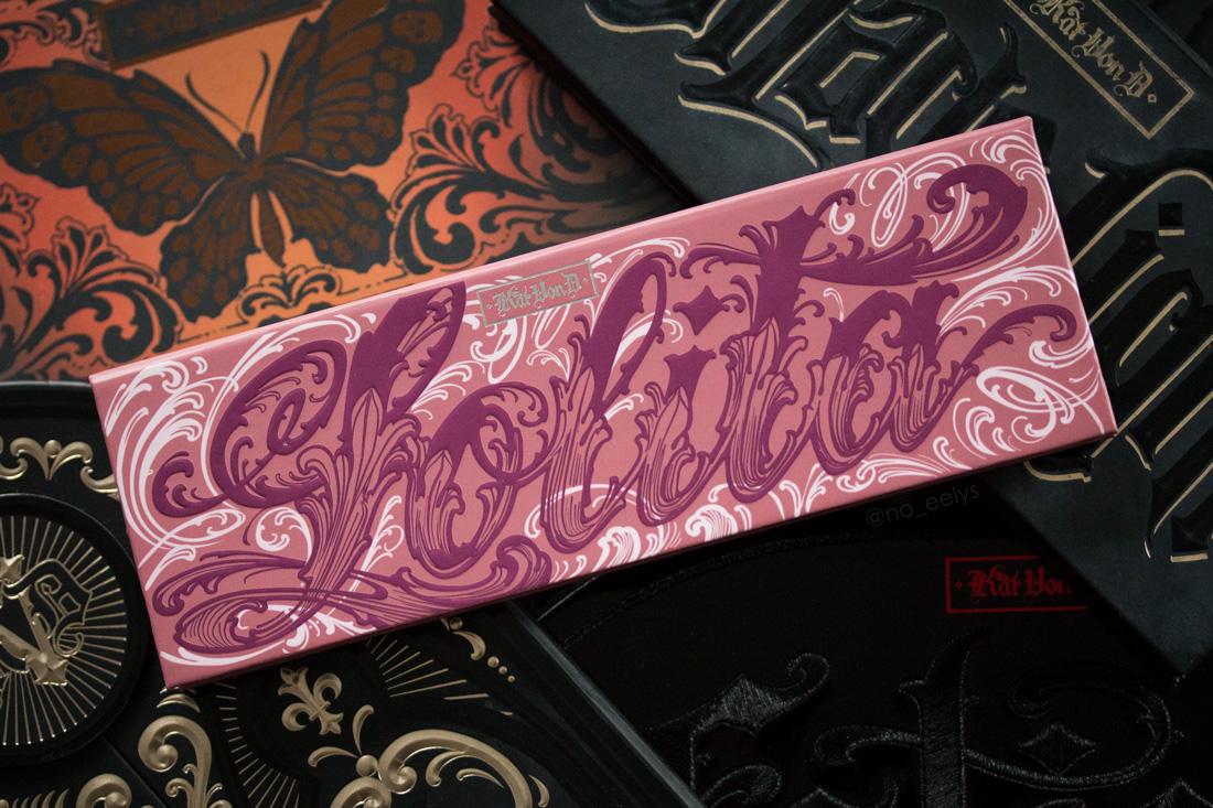 Packaging de la palette Lolita par Kat Von D beauty
