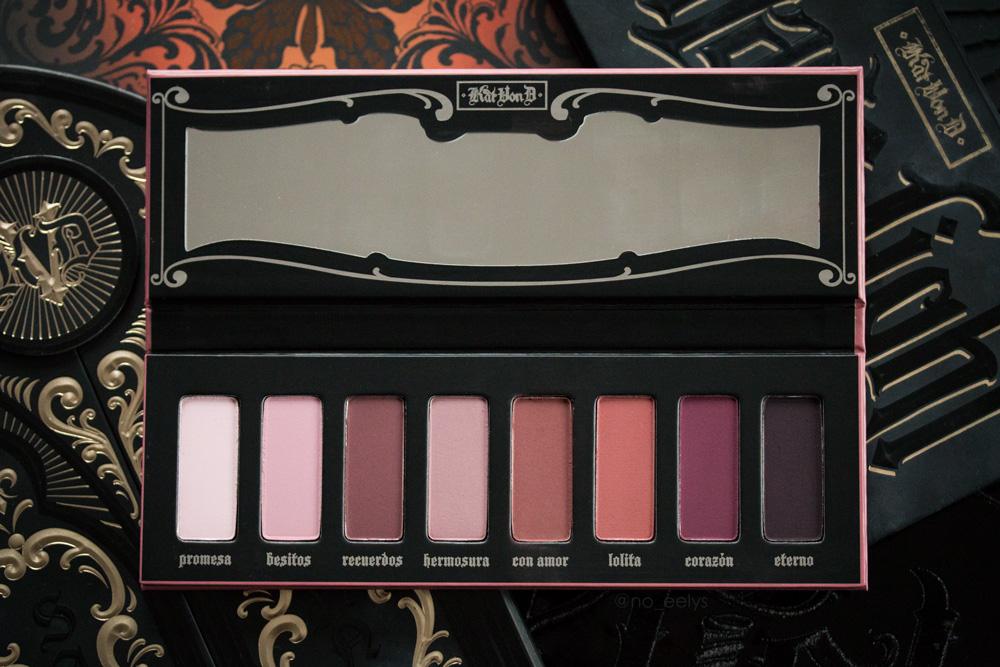 Mon avis sur la palette Lolita Kat Von D beauty (édition limitée)