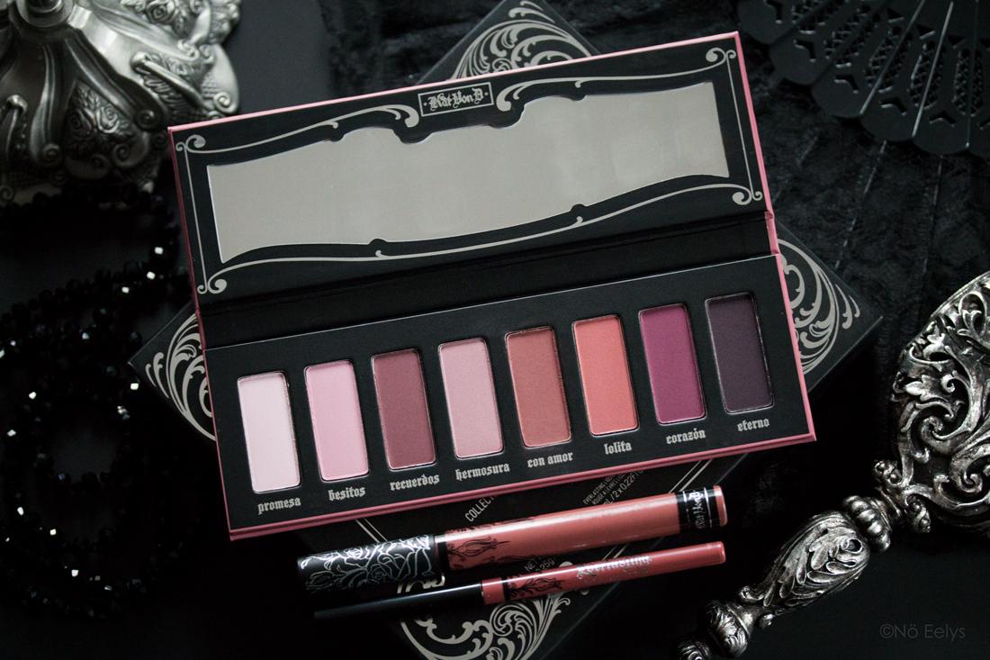 Mon avis sur la palette Lolita Kat Von D beauty (édition limitée), revue et swatchs
