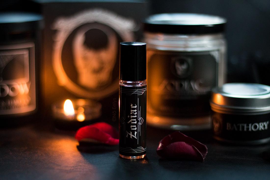 Mon avis sur le parfum Zodiac Burke & Hare Co (parfum goth vegan à la vanille et au patchouli)