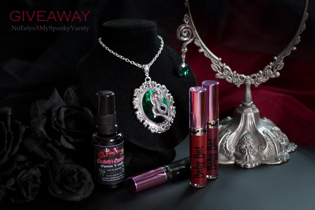 Giveaway My Spooky Vanity No Eelys, jeu concours maquillage et accessoires gothique sur instagram @no_eelys (Baby Bat Beauty, Parfume Noire)