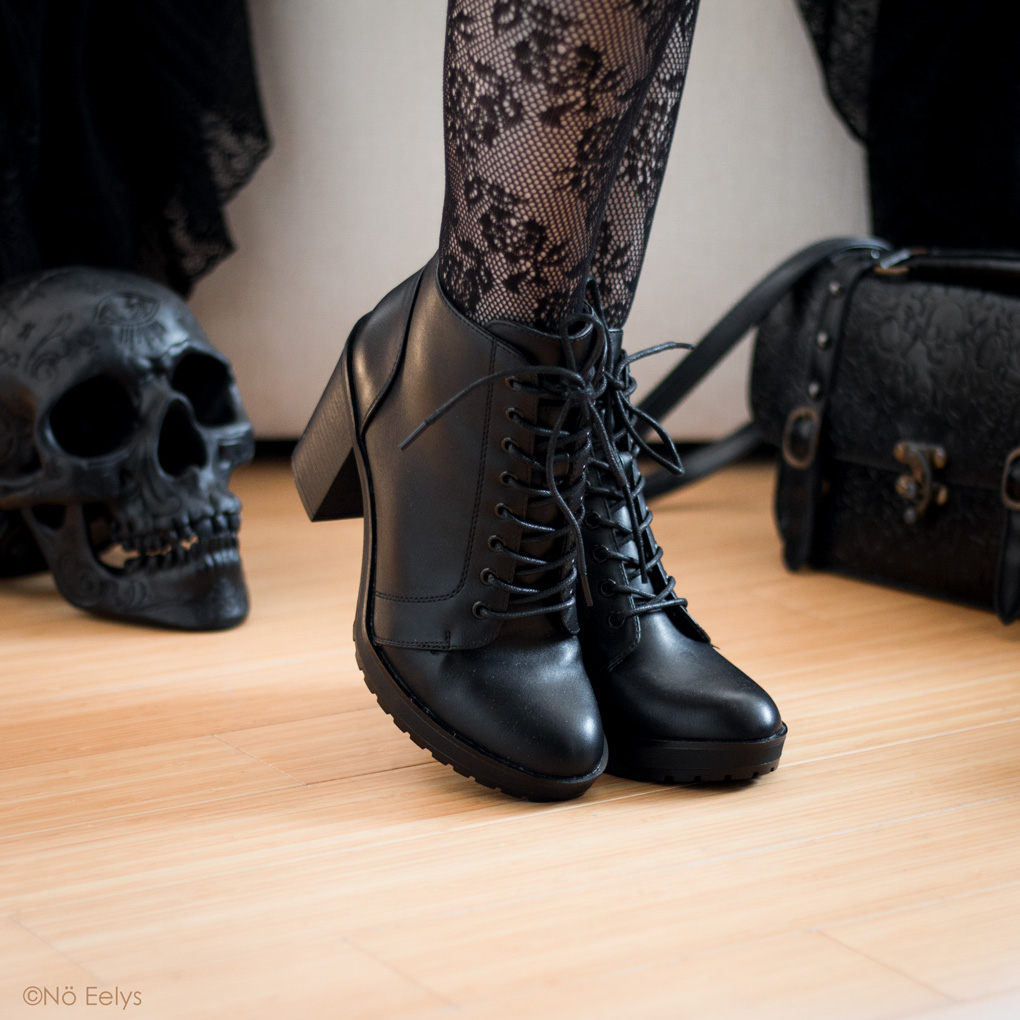 ONLY Boo bottines vegan simili noire lacets avis photos