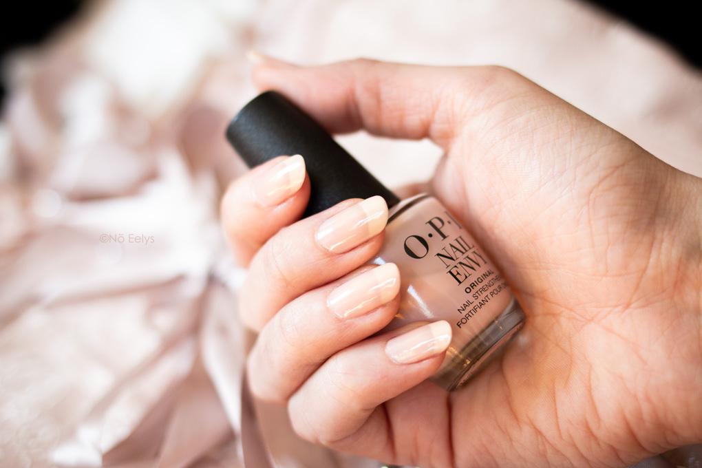 Cure OPI Nail Envy Color Bubble Bath après 6 semaines avis et swatch, vernis à ongles fortifiant teinté