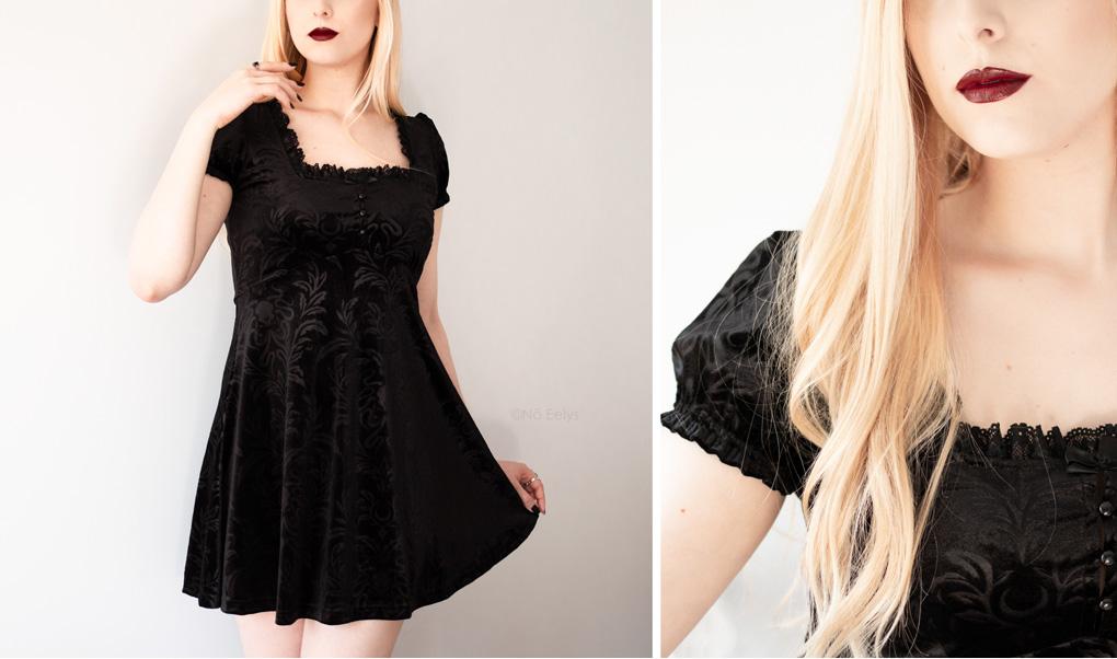 La petite robe en velours noir Killstar Kadabra Skater dress (photo, revue, avis)