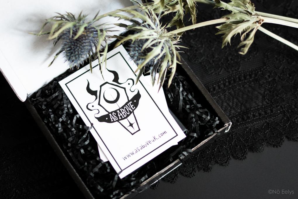 Mon Avis sur As Above UK, blog mode gothique / alternative