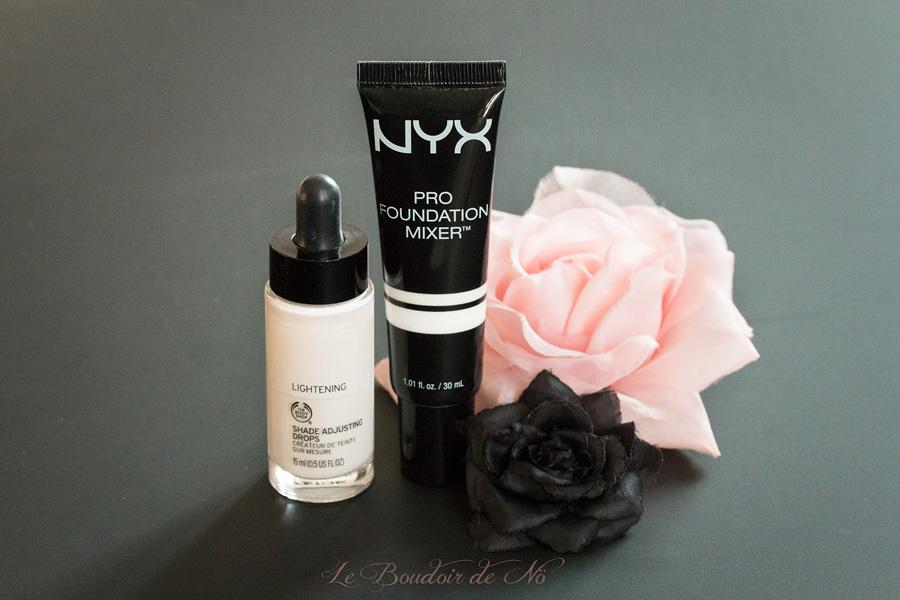 shade adjusting drops the body shop nyx pro foundation mixer