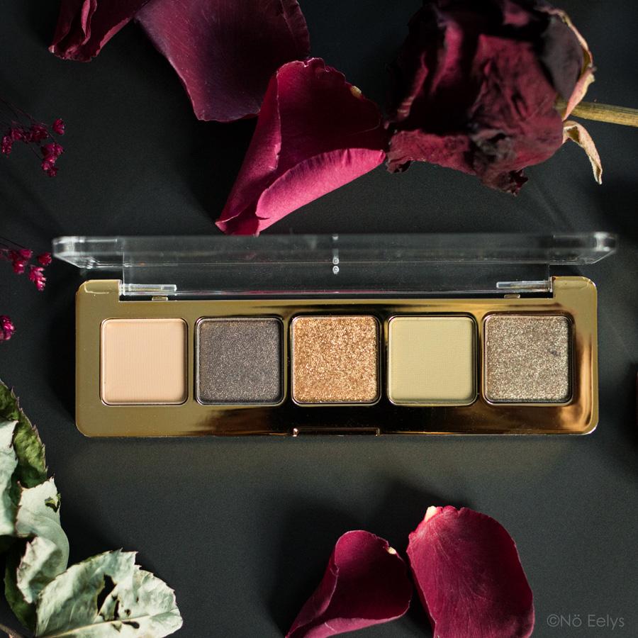 Zoom sur le packaging de la Mini Gold Palette Natasha Denona, avis et revue avec photos