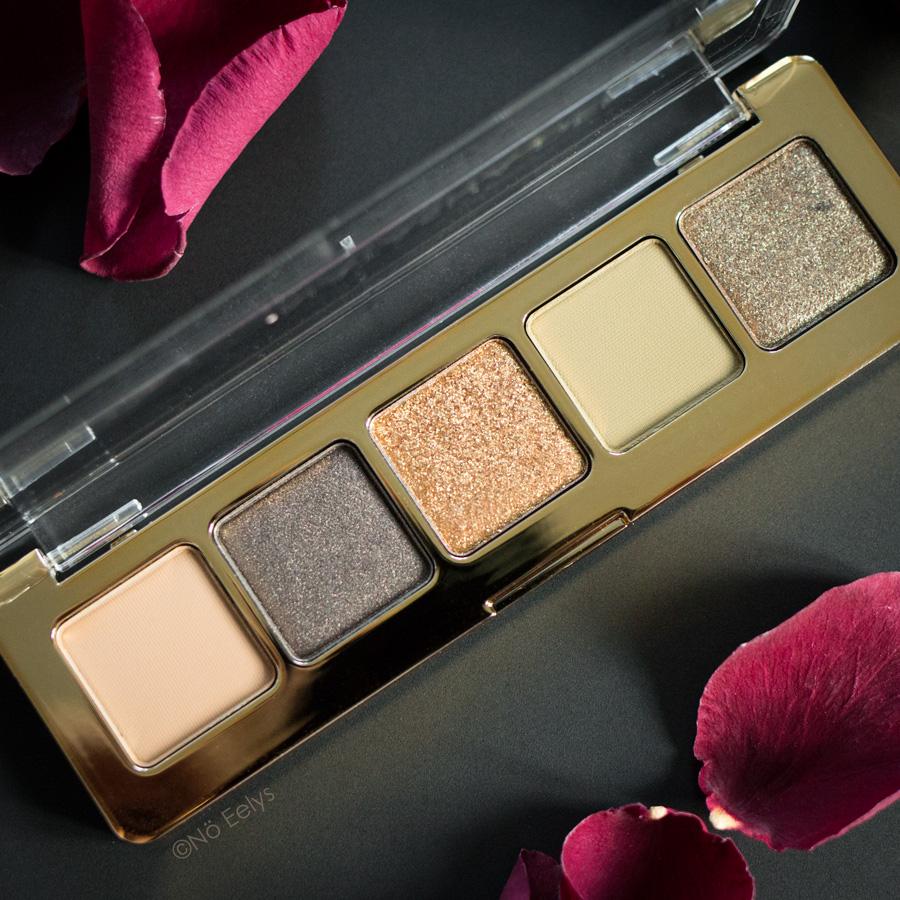 Swatchs de la palette Mini Gold Natasha Denona