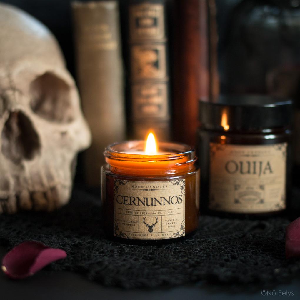 Mon avis sur la bougie Cernunnos Noctis Candle Company (bougies gothiques vegan et cruelty-free)