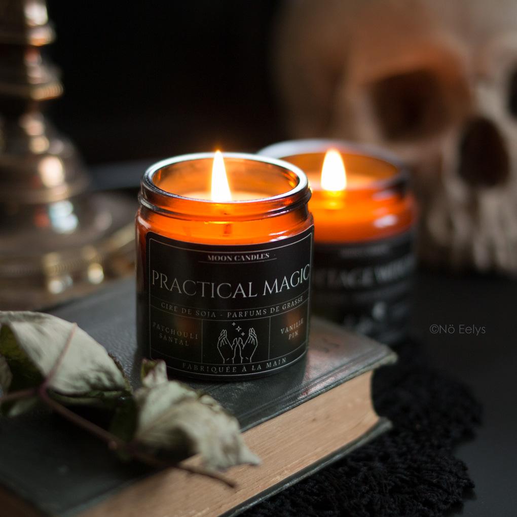 Mon avis sur la bougie Practical Magic Noctis Candle Company (bougies gothiques vegan et cruelty-free)