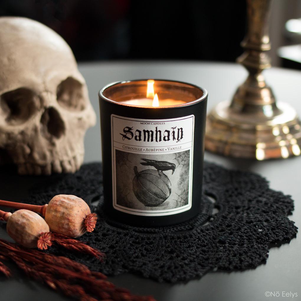Mon avis sur la bougie Samhain Noctis Candle Company (bougies gothiques vegan et cruelty-free)
