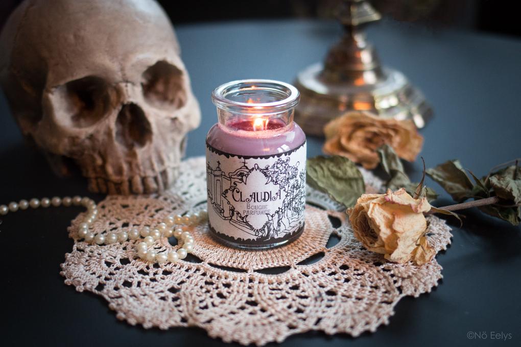 Mon Avis sur la bougie Musky Oil Claudia, bougie parfumée en cire de soja de la collection Vampires