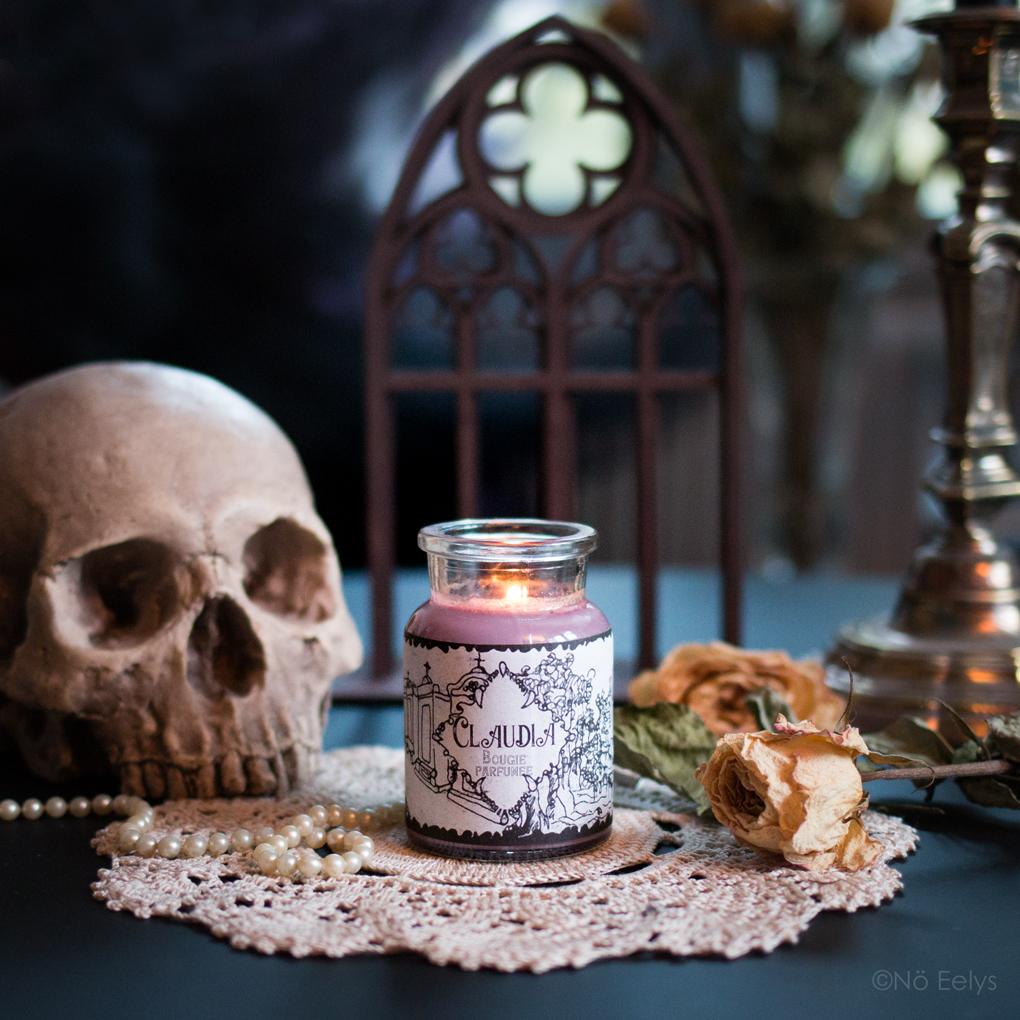 Claudia Musky Oil, bougie parfumée gothique vampire en cire de soja, mon avis